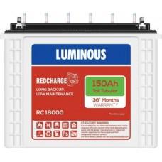 LUMINOUS RedCharge RC18000 150Ah Tall Tubular Battery Tubular Inverter Battery  (150Ah)